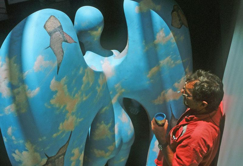 Artist Paints Century Angel